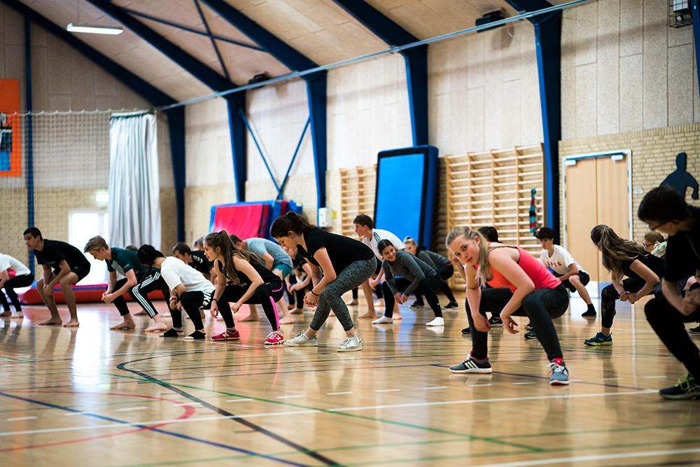 Fælles Gymnastik på Skals Efterskole