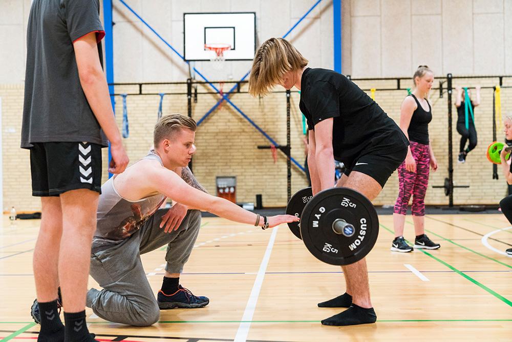 Træning og fitness på Skals Efterskole