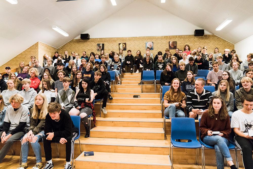 Foredragssalen på Skals Efterskole