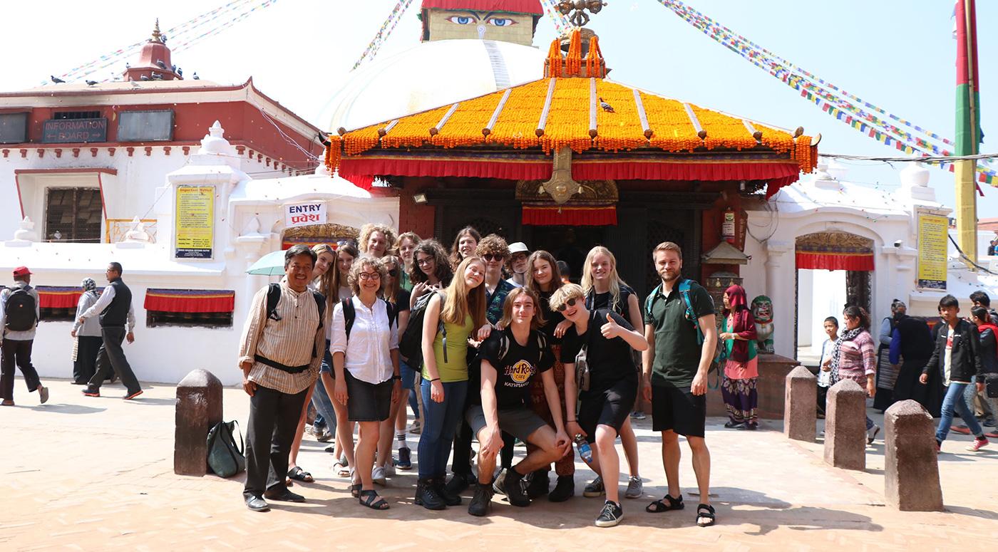 På rejse til Nepal med Skals Efterskole