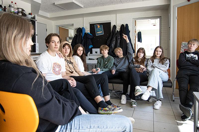 Fællestime på Skals Efterskole